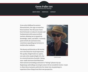 Gwen Fuller Art - MM Website Design